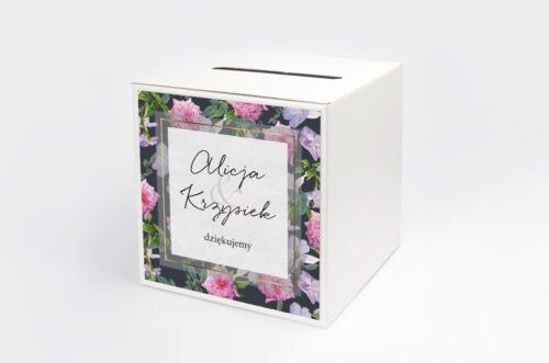 Pudełko na koperty do zaproszenia Tło z kwiatów – wzór 10