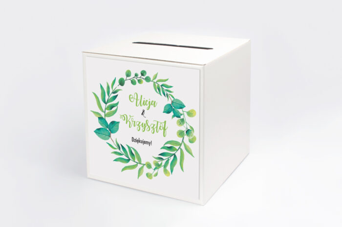 pudelko-na-koperty-do-zaproszen-kwadratowe-zielony-wianek-papier-satynowany-pudelko-