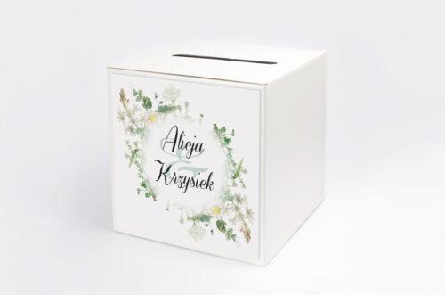 Pudełko na koperty do zaproszenia Kwiaty Vintage – wzór 7