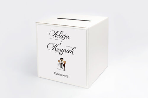 Personalizowane pudełko na koperty - Lolki i ksiądz 2