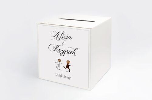 Personalizowane pudełko na koperty - Lolki uciekający pan