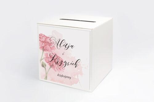 Pudełko na koperty do zaproszenia Namalowane Kwiaty – wzór 1