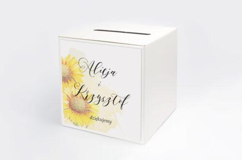 Pudełko na koperty do zaproszenia Namalowane Kwiaty – wzór 16