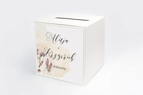 Pudełko na koperty do zaproszenia Namalowane Kwiaty – wzór 22