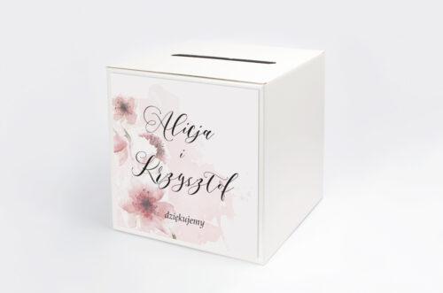 Pudełko na koperty do zaproszenia Namalowane Kwiaty – wzór 6