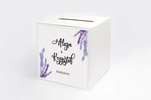 Pudełko na koperty Jednokartkowe Recyklingowe - Lawenda
