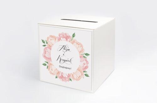 Pudełko na koperty do zaproszeń Wianki z Kokardą - Herbaciane Róże