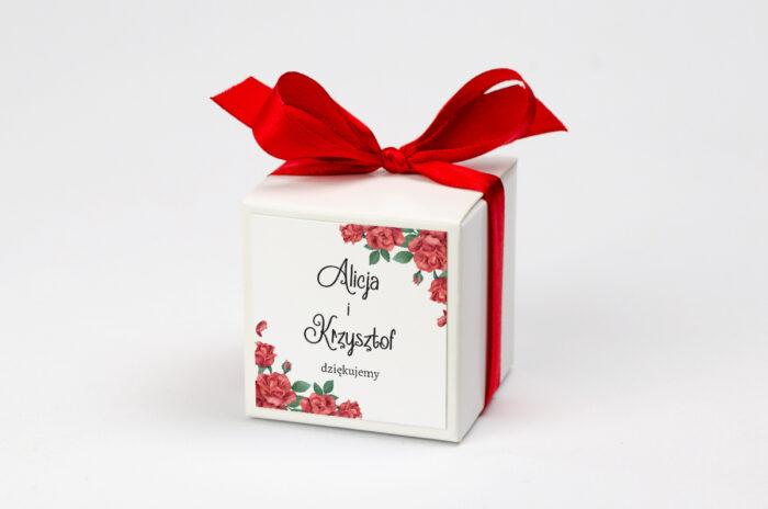 Pudełeczko z personalizacją - Ze zdjęciem i sznurkiem - Czerwone róże