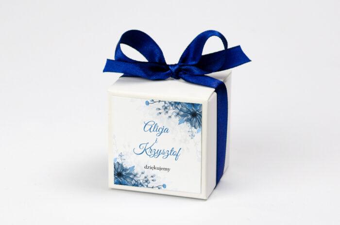 Pudełeczko z personalizacją Zdjęcie&Kalendarz w folderze – Niebieski bukiet