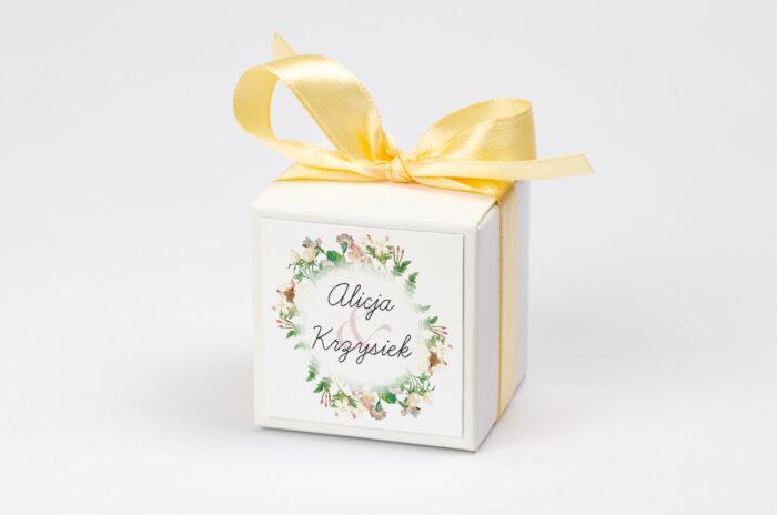 Pudełeczko z personalizacją do zaproszenia Kwiaty Vintage – wzór 15