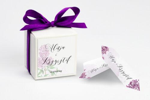 Pudełeczko z personalizacją do zaproszenia Namalowane Kwiaty – wzór 19