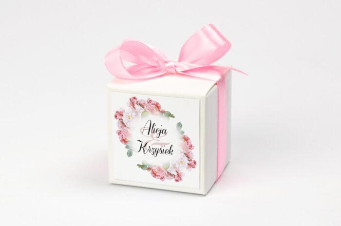 Pudełeczko z personalizacją do zaproszenia Kwiaty Vintage – wzór 5