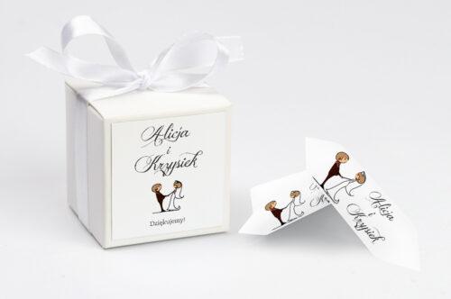 Ozdobne pudełeczko z personalizacją - Lolki trzymające się za ręce