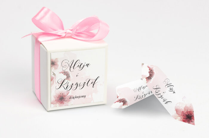 Ozdobne pudełeczko z personalizacją zaproszenia Namalowane Kwiaty – wzór 6
