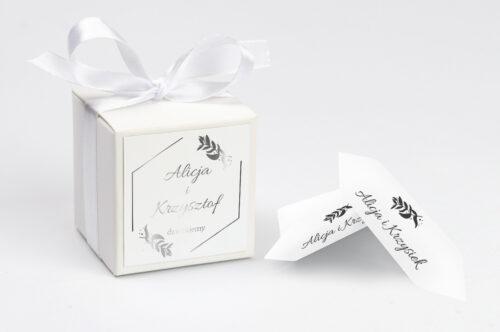 Pudełko na koperty do zaproszenia Srebrne Lustro – Liście Eukaliptusa