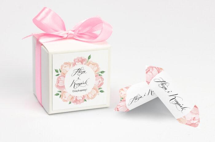 Ozdobne pudełeczko z personalizacją Wianki z kokardą - Herbaciane Róże