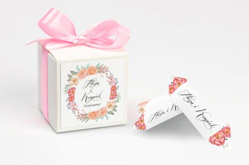 Pudełeczko z personalizacją Wianki z kokardą - Herbaciany Wianek