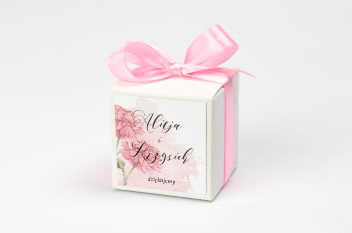 Pudełeczko z personalizacją do zaproszenia Namalowane Kwiaty – wzór 1