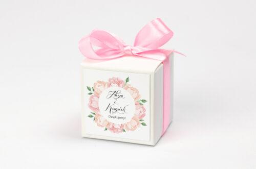 Pudełeczko z personalizacją Wianki z kokardą - Herbaciane Róże
