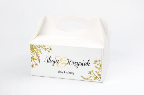 Ozdobne pudełko na ciasto - Kwiaty Vintage – wzór 3