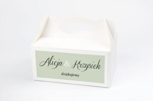 Ozdobne pudełko na ciasto do zaproszeń jednokartkowe Zdjęcie & Kalendarz – Zieleń