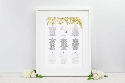 Plan stołów weselnych - do zaproszenia Kwiaty Vintage – wzór 3