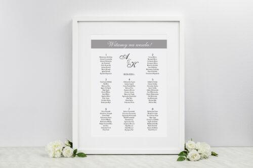 Plan stołów weselnych - do zaproszenia FotoZaproszenie wzór 3a