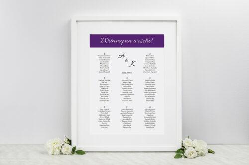 Plan stołów weselnych - do zaproszenia FotoZaproszenie wzór 5c