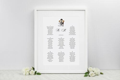 Plan stołów weselnych - do zaproszenia Lolki i ksiądz 2
