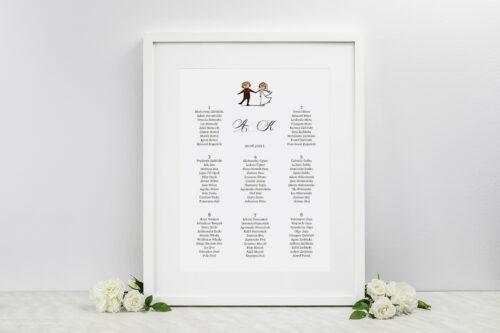 Plan stołów weselnych - do zaproszenia Lolki tańczące