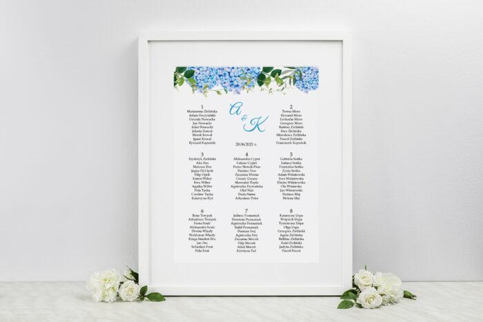 plan-stolow-weselnych-wianki-z-kokarda-niebieskie-hortensje-dodatki-ramka-papier-
