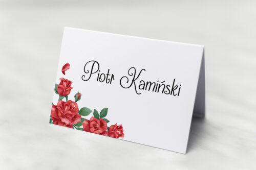 Winietka ślubna - Czerwone róże