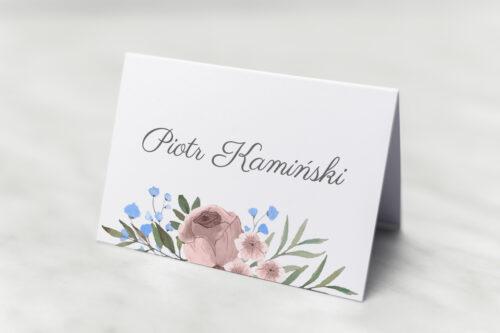 Winietka ślubna do zaproszenia Jednokartkowe - Polne kwiaty