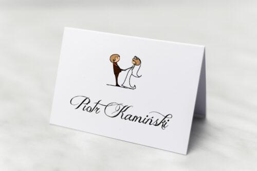 Winietka ślubna Lolki trzymające się za ręce