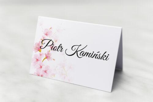 Winietka ślubna do zaproszenia Zdjęcie&Kalendarz w folderze – Kwiaty jabłoni