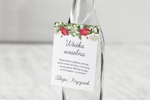 Zawieszka na alkohol Kwiaty Vintage – wzór 16