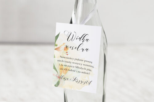 Zawieszka na alkohol Namalowane Kwiaty – wzór 24