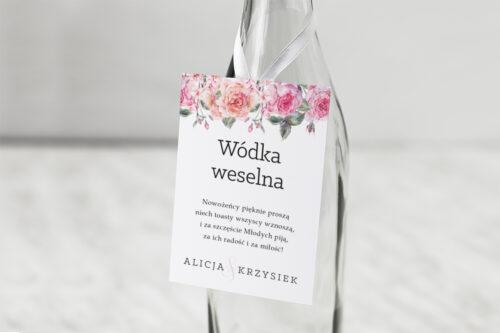 Zawieszka na alkohol Akwarelowe Bukiety – wzór 6