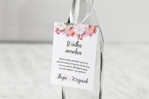 Zawieszka na alkohol Kwiaty Vintage – wzór 5