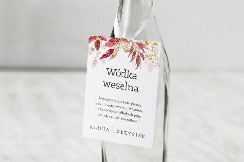 Zawieszka na alkohol Akwarelowe Bukiety – wzór 2