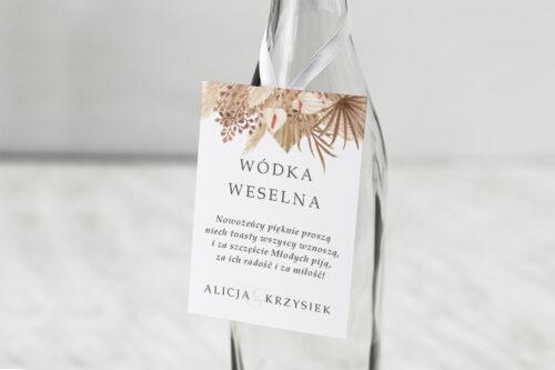 Zawieszka na alkohol do zaproszeń Jednokartkowe z Kwiatami – wzór 14