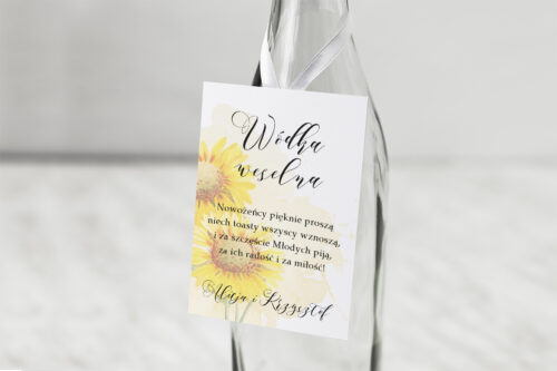 Zawieszka na alkohol Namalowane Kwiaty – wzór 16