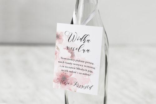 Zawieszka na alkohol Namalowane Kwiaty – wzór 6