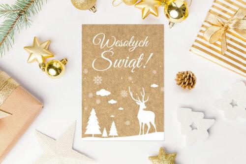 kartka świąteczna w norweskim stylu