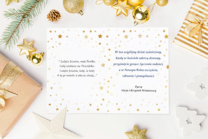 kartka świąteczna stajenka