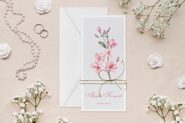 zaproszenie-slubne-minimalistyczne-z-kwiatem-kwiaty-wisni-papier--dodatki--koperta-bez-koperty