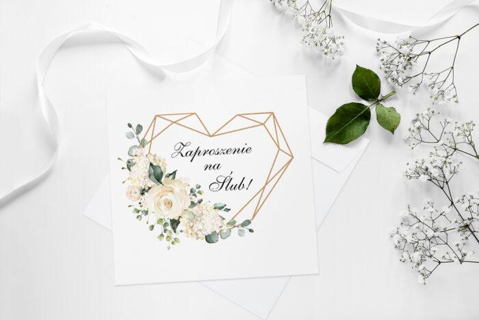 zaproszenie-slubne-geometryczne-hortensje-papier-matowy-koperta-bez-koperty