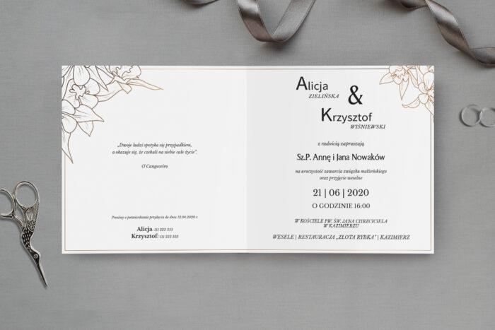 zaproszenie ślubne kwiaty