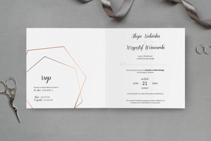 zaproszenie ślubne marmurkowe