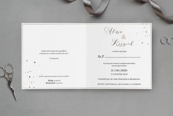zaproszenie ślubne nowoczesne